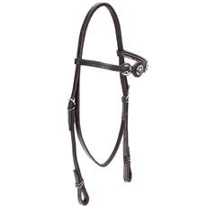 Cabeçada de Couro para Cavalo com Afogador Bronc-Steel Marrom 21892