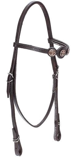 Cabeçada de Couro para Cavalo com Afogador Bronc-Steel Marrom 21893
