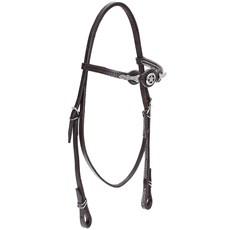 Cabeçada de Couro para Cavalo com Afogador Bronc-Steel Marrom 21894
