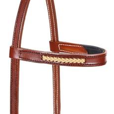 Cabeçada de Couro para Cavalo com Testeira - Bronc-Steel 18506