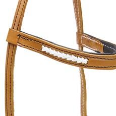 Cabeçada de Couro para Cavalo com Testeira Bronc-Steel 26717