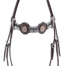 Cabeçada de Couro para Cavalo com Testeira Bronc-Steel Marrom 21944