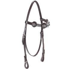 Cabeçada de Couro para Cavalo com Testeira Bronc-Steel Marrom 21946
