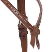 Cabeçada de Couro para Cavalo com Testeira Nó e Afogador - Top Equine 19415