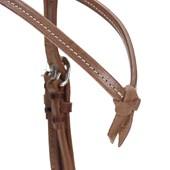 Cabeçada de Couro para Cavalo com Testeira Nó e Afogador - Top Equine 19416