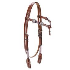 Cabeçada de Couro para Cavalo com Testeira Nó Pro Horse 22475