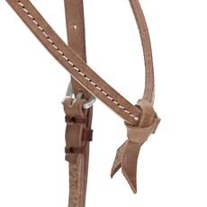Cabeçada de Couro para Cavalo com Testeira Nó - Top Equine 19408