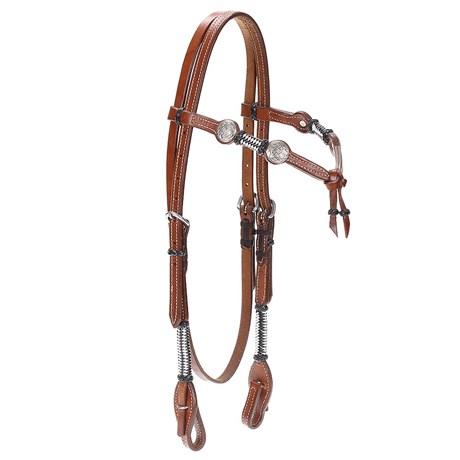 Cabeçada de Couro Pro Horse Testeira Nó 22477