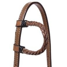 Cabeçada para Cavalo 1 Orelha com Couro Trançado Rodeo West 26351