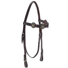Cabeçada para Cavalo com Afogador Bronc-Steel Marrom 21921