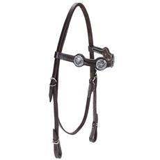 Cabeçada para Cavalo com Afogador Bronc-Steel Marrom 21922