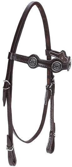 Cabeçada para Cavalo com Afogador Bronc-Steel Marrom 21923