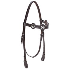 Cabeçada para Cavalo com Afogador Bronc-Steel Marrom 21924