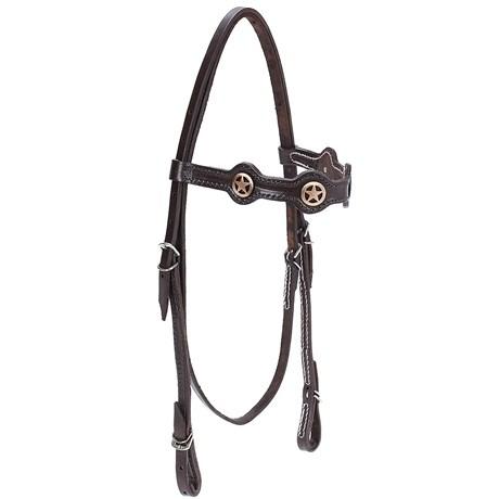 Cabeçada para Cavalo com Afogador Bronc-Steel Marrom 21925