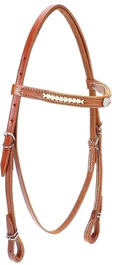 Cabeçada para Cavalo com Testeira Bronc-Steel Couro Havana 21939