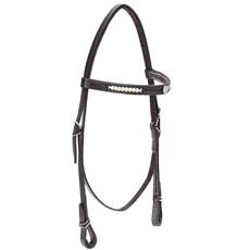 Cabeçada para Cavalo com Testeira Bronc-Steel Couro Marrom 21934