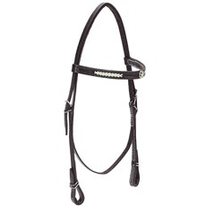 Cabeçada para Cavalo com Testeira Bronc-Steel Couro Marrom 21935