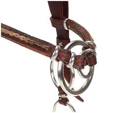 Cabeçada para Cavalo com Testeira e Argolas  - A Pantaneira 15734