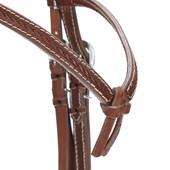 Cabeçada para Cavalo com Testeira Nó e Afogador Couro Bordado - Top Equine 19417