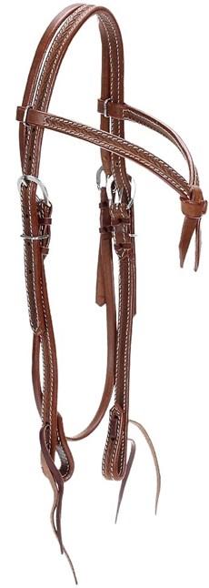 Cabeçada para Cavalo com Testeira Nó e Afogador Couro Bordado - Top Equine 19418