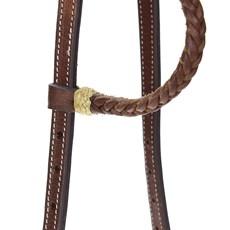 Cabeçada para Cavalo Couro Trançado 1 Orelha Rodeo West 22450
