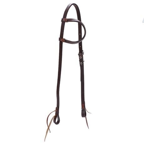Cabeçada para Cavalo de Couro 1 Orelha Top Equine 23846