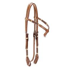 Cabeçada para Cavalo de Couro Pro Horse Testeira Nó 22498