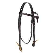 Cabeçada para Cavalo de Couro Testeira Nó com Afogador Rodeo West 25386