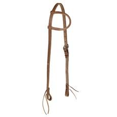 Cabeçada para Cavalo Fabricada em Couro 1 Orelha com Regulagem Lateral - Rodeo West 15511