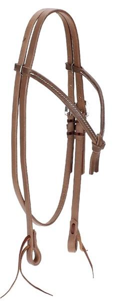 Cabeçada para Cavalo Modelo Testeira Nó em Couro - Rodeo West 17917