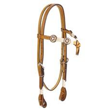 Cabeçada para Cavalo Testeira Nó com Afogador Apliques Estrela Rodeo West 25462