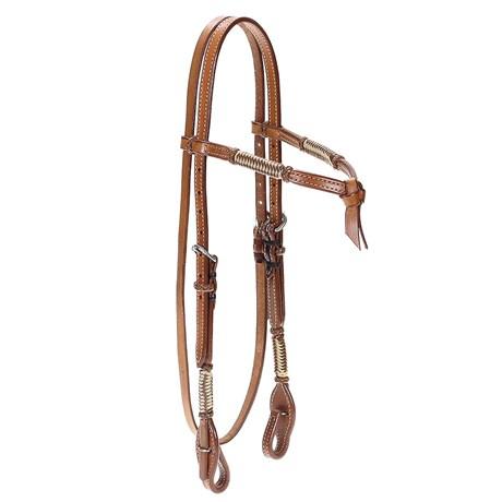 Cabeçada para Cavalo Testeira Nó em Couro Pro Horse 22494