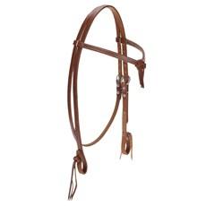 Cabeçada Testeira de Couro para Cavalo Rodeo West 23414