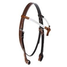 Cabeçada Testeira Nó de Couro para Cavalo com Afogador e Charroas Rodeo West 25382