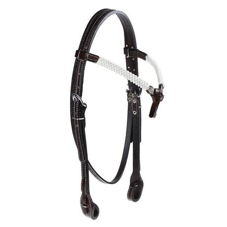 Cabeçada Testeira Nó de Couro para Cavalo com Afogador Rodeo West 25381