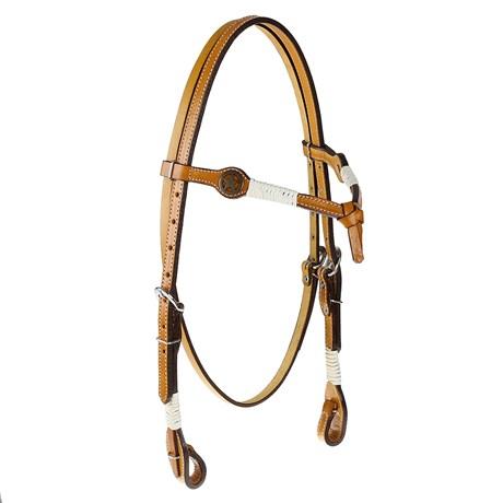 Cabeçada Testeira Nó de Couro para Cavalo com Apliques Estrela Rodeo West 25453