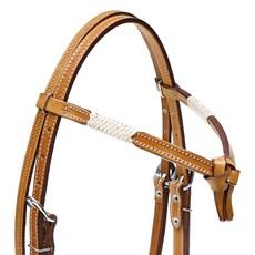 Cabeçada Testeira Nó de Couro para Cavalo Rodeo West 28661