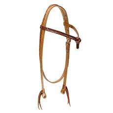 Cabeçada Testeira Nó de Couro para Cavalo Rodeo West 28662