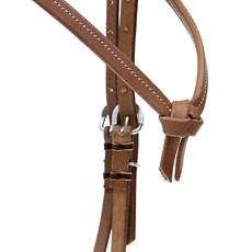 Cabeçada Testeira Nó de Couro para Cavalo Top Equine 28459
