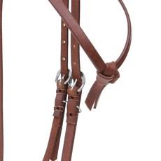 Cabeçada Testeira Nó em Couro Pinhão para Cavalo Top Equine 28106