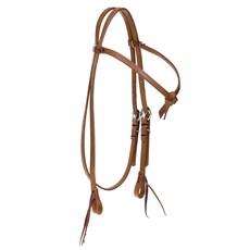 Cabeçada Testeira Nó para Cavalo em Couro Havana Top Equine 28108