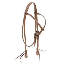 Cabeçada Testeira Nó para Cavalo em Couro Natural com Oléo Top Equine 28107