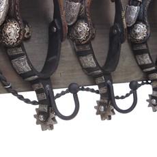Cabideiro Rústico de Parede em Resina Esporas Rodeo West 30196