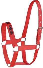 Cabresto para Cavalo em Nylon Vermelho Quarto de Milha com Cabo - Bronc-Steel 18527
