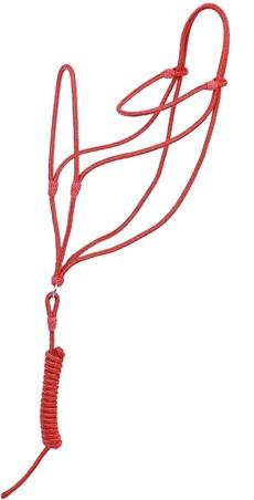 Cabresto Vermelho para Cavalo Fabricado em Polipropileno - Bronc-Steel 18396