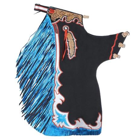 Calça de Couro para Montaria em Touro Master Bulls Azul 22188