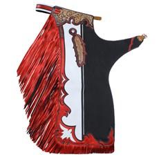 Calça de Montaria em Touro Vermelha Master Bulls 20693