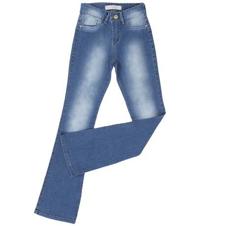 Calça Feminina King Farm Flare Jeans Claro 21528