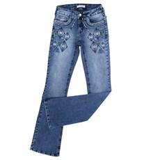 Calça Feminina Tassa Gold Jeans Azul Boot Cut 23863