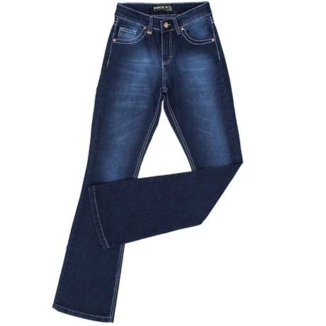Calça Flare Jeans Feminina Dock's Azul 19876